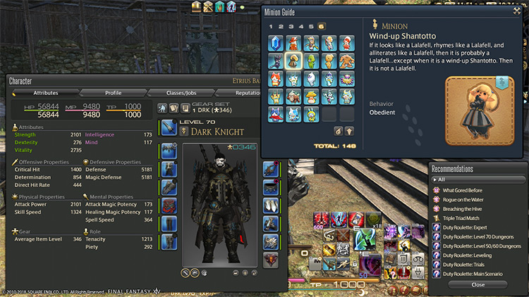 Custom UI FF14 mod