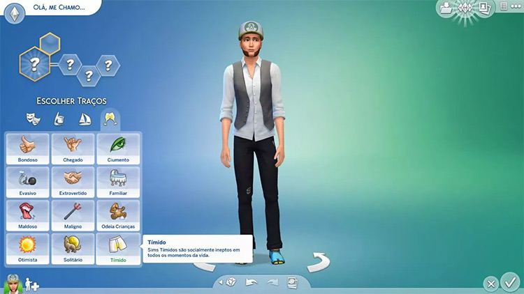 Shy Trait for Sims4