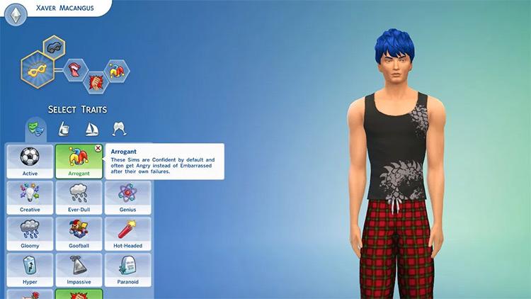 Arrogant Trait Sims4