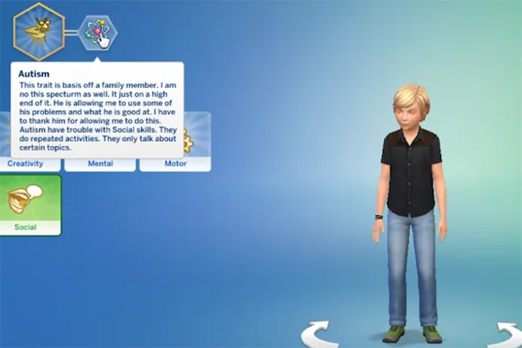 Autism in Sims 4