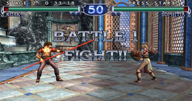 Soulcalibur II gameplay screenshot