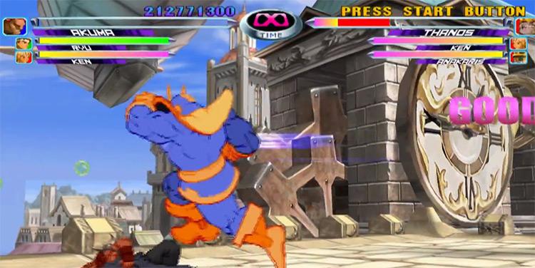 Marvel vs. Capcom 2 PS2 gameplay