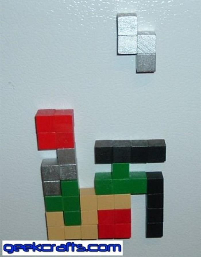 tetris fridge magnet diys