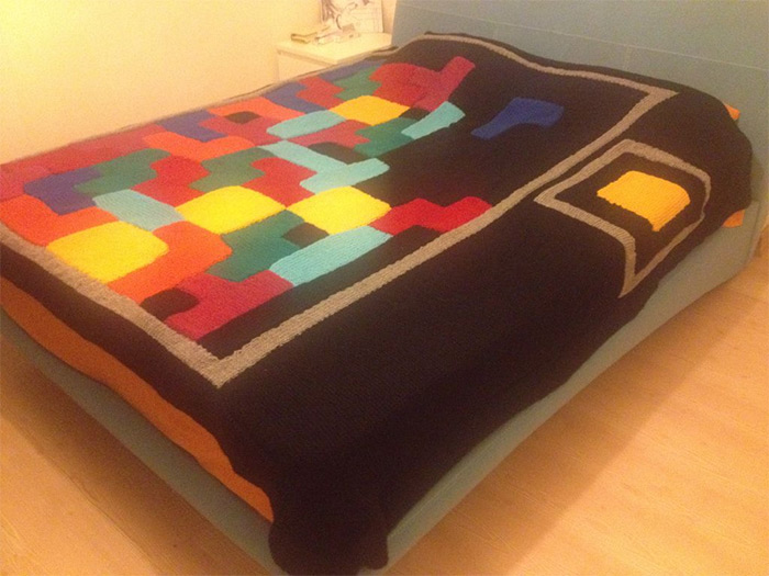 diy tetris blanket