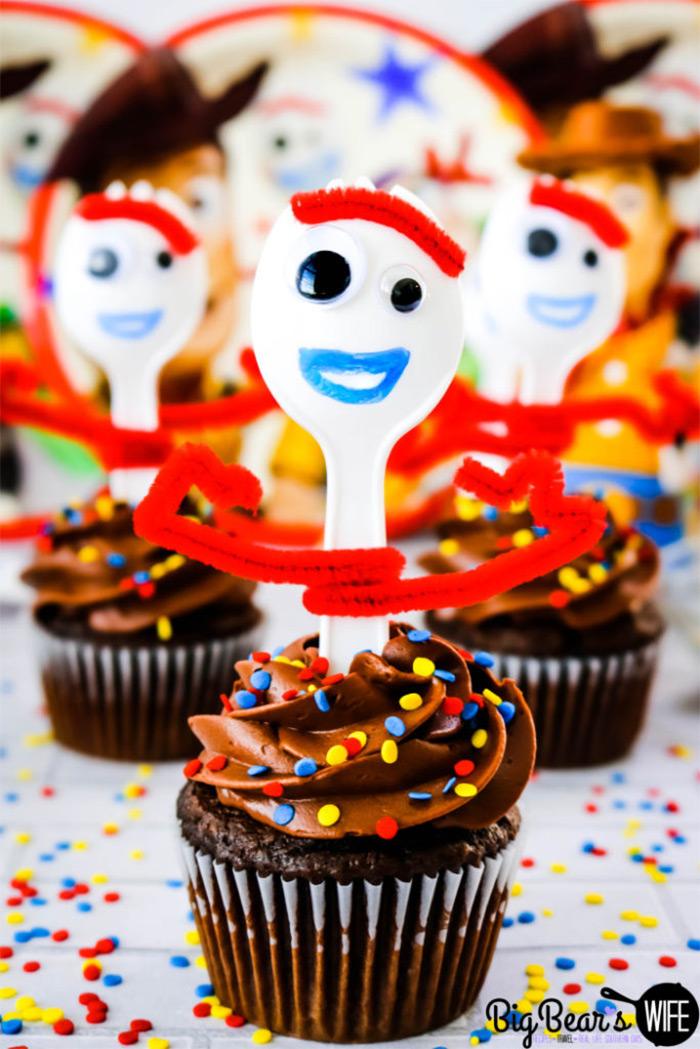 Forky cupcakes diy