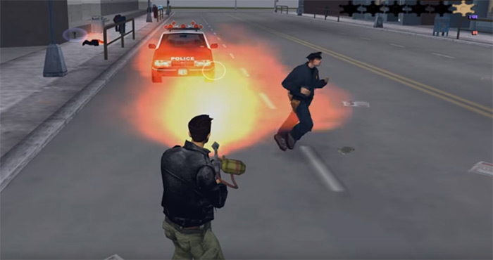 GTA3 Flamethrower weapon