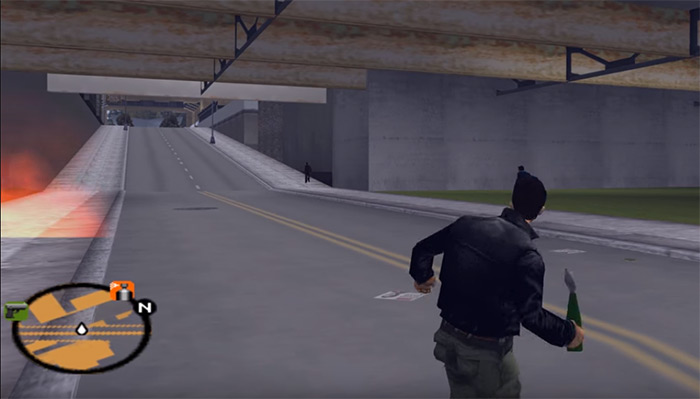 GTA 3 molotov cocktail