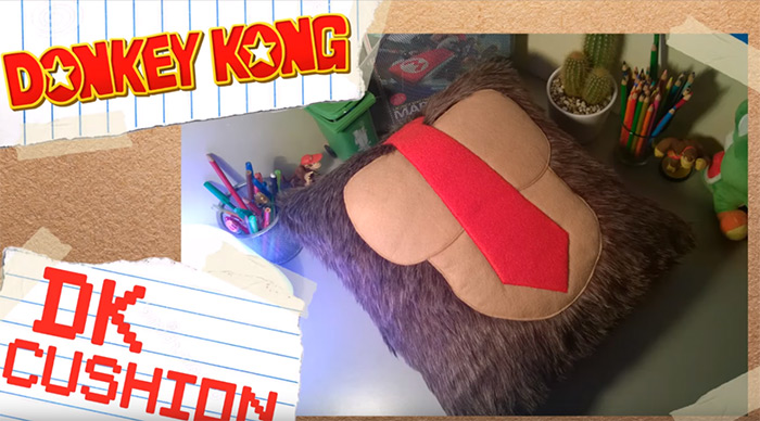 Donkey Kong cushion tutorial