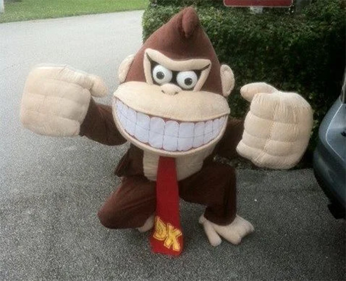 Donkey Kong costume head diy