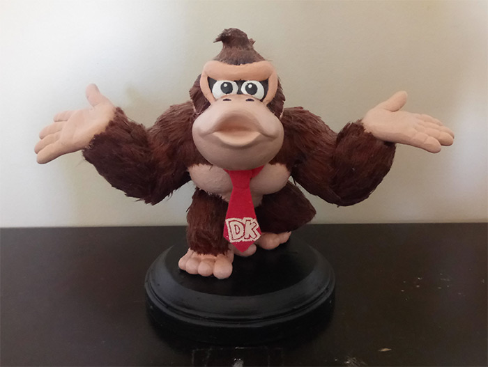Handmade Donkey Kong toy