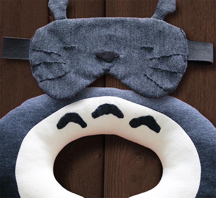 diy totoro sleeping mask
