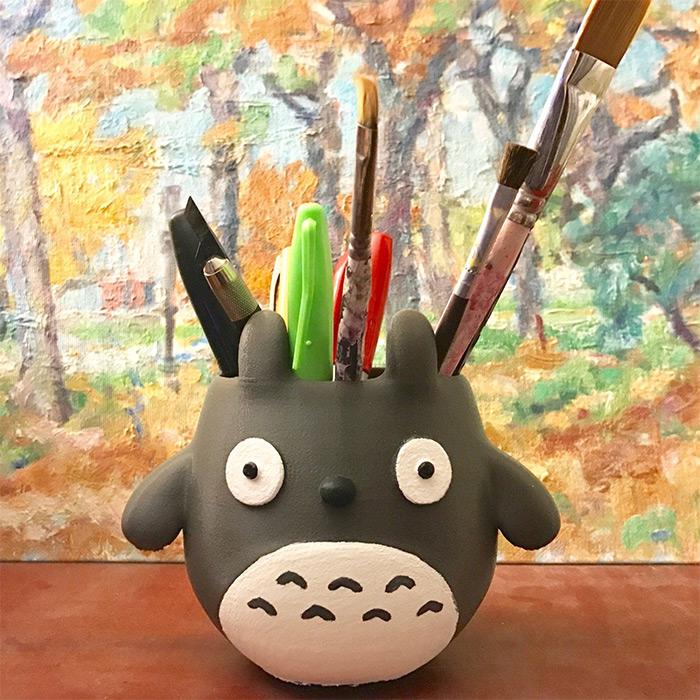 Pencil holders totoro designs