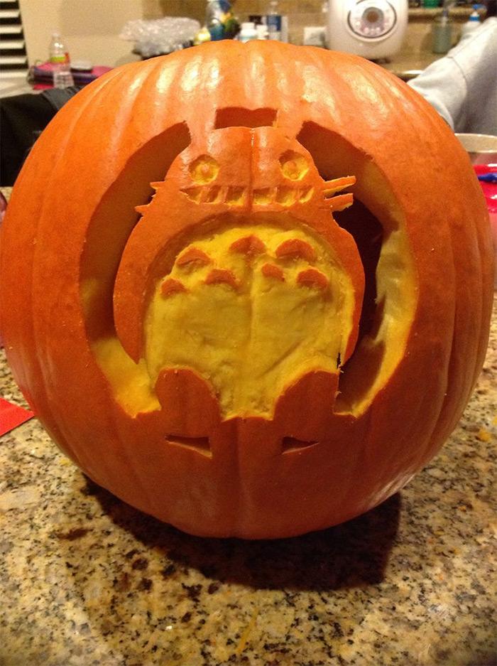 totoro pumpkin diy