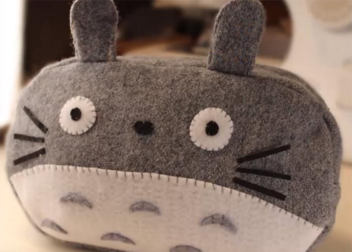 Totoro pencilcase diy