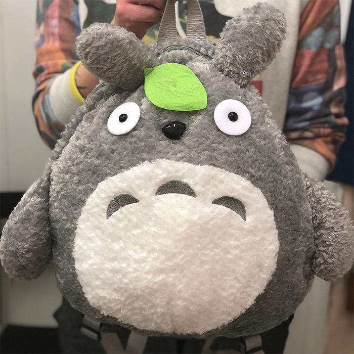 Totoro plush backpack