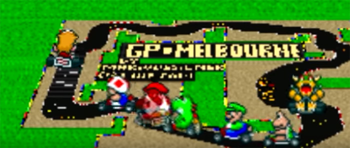 Super Mario Kart F1 Tracks screenshot
