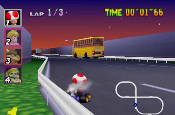 Toad Mario Kart 64