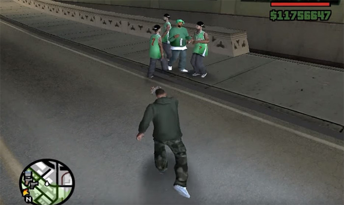 Tear gas weapon San Andreas