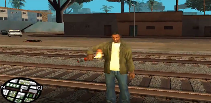 molotov cocktail in San Andreas