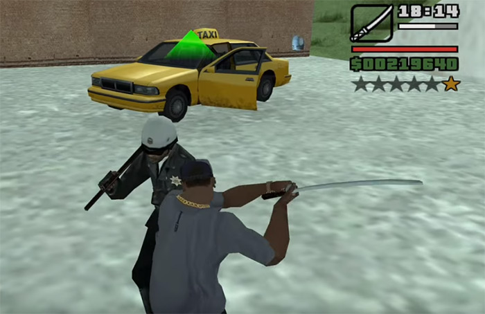 Katana in San Andreas