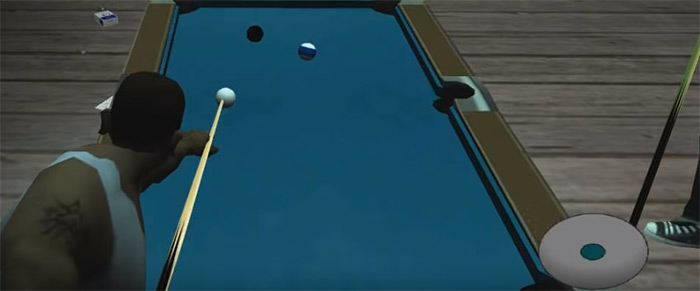 San Andreas pool cue weapon