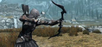 Modded Skyrim archer bow