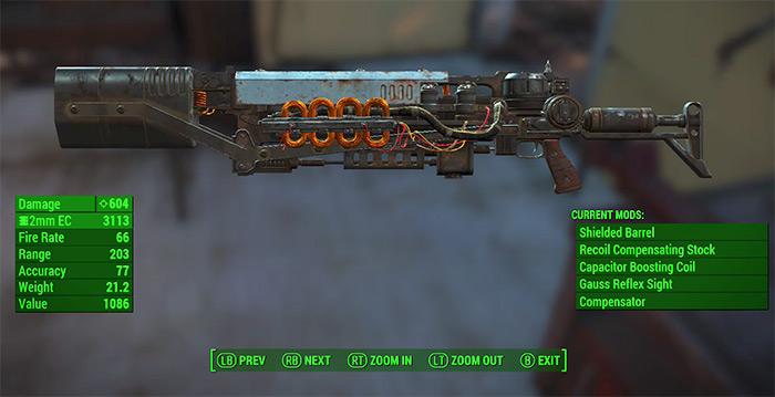 Gauss Rifle Fallout4 best weapon