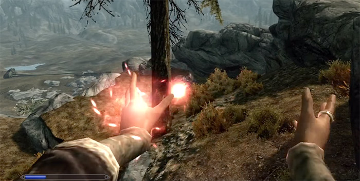 Casting Rout spell in Skyrim
