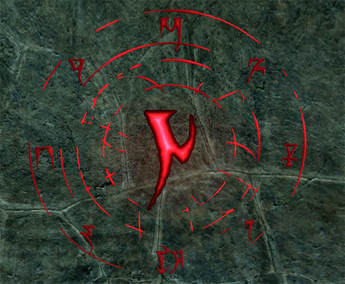 Casting Frenzy Rune in Skyrim