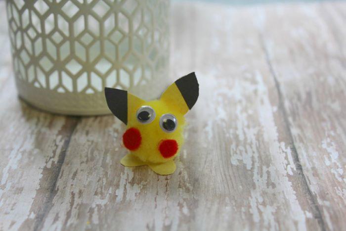 Fuzzy pikachu craft