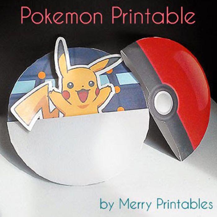 Pikachu and pokeball design printable