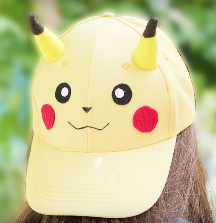 Pikachu design baseball cap