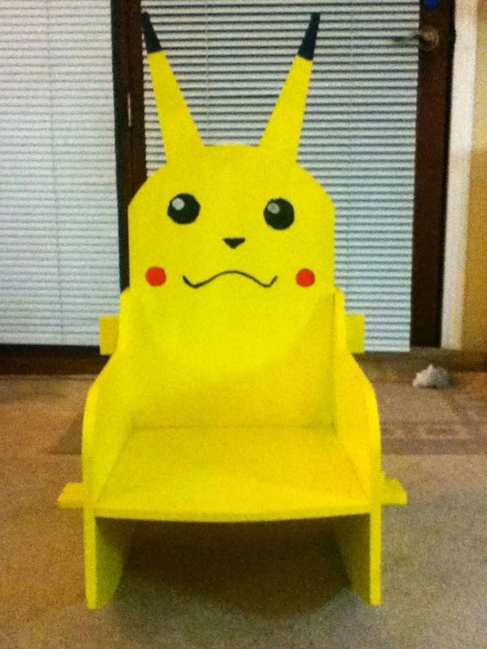 Pikachu design kids rocking chair