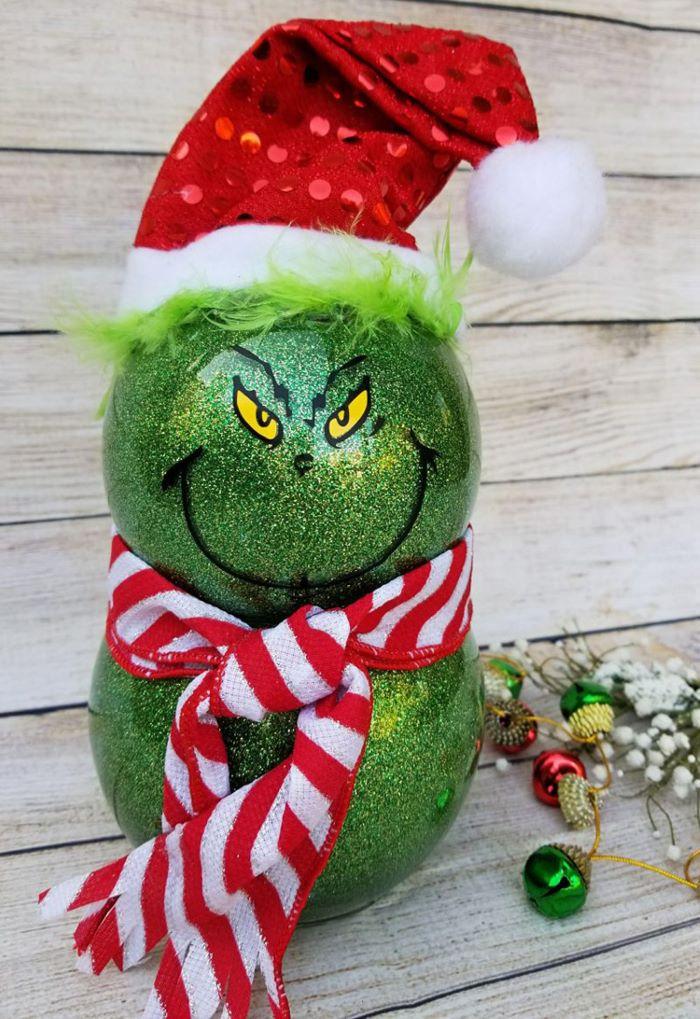 Grinch decor dollar store supplies