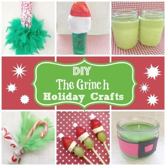 Grinch themed party favors