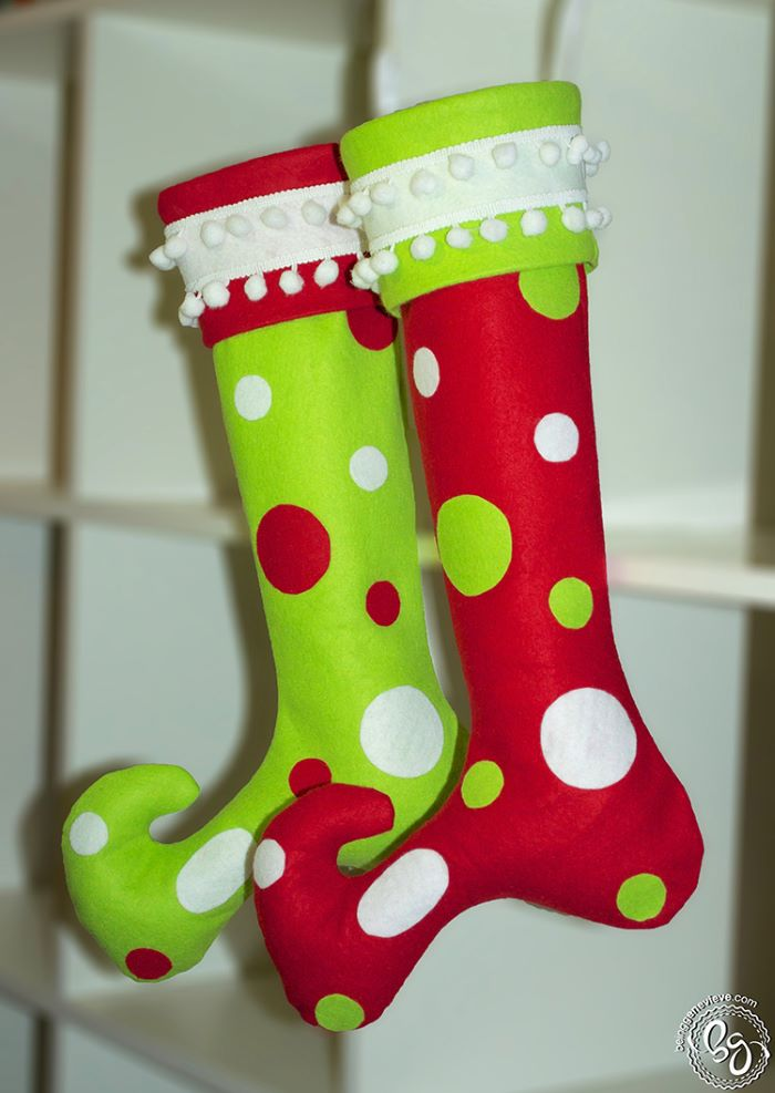 Whoville style christmas stockings