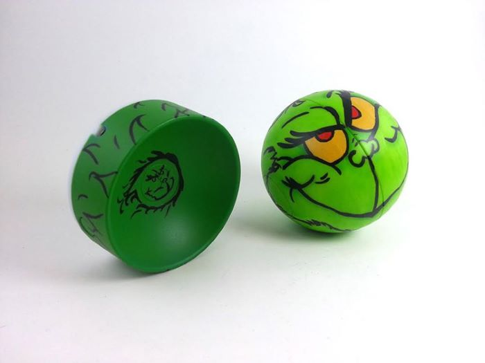 Custom painted grinch design sphero