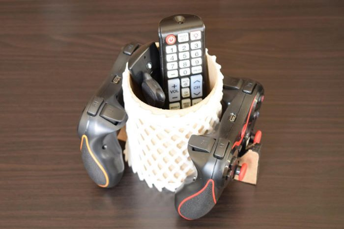 Salt container remote and controller holder