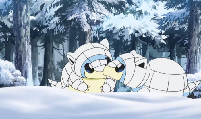 Alolan ice Sandshrew anime