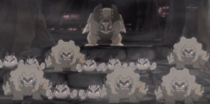 Golem and graveler alolan style from anime