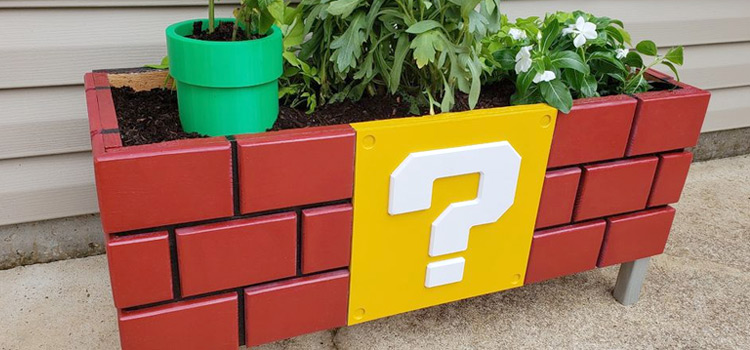 Super Mario Planter DIY Bricks Design