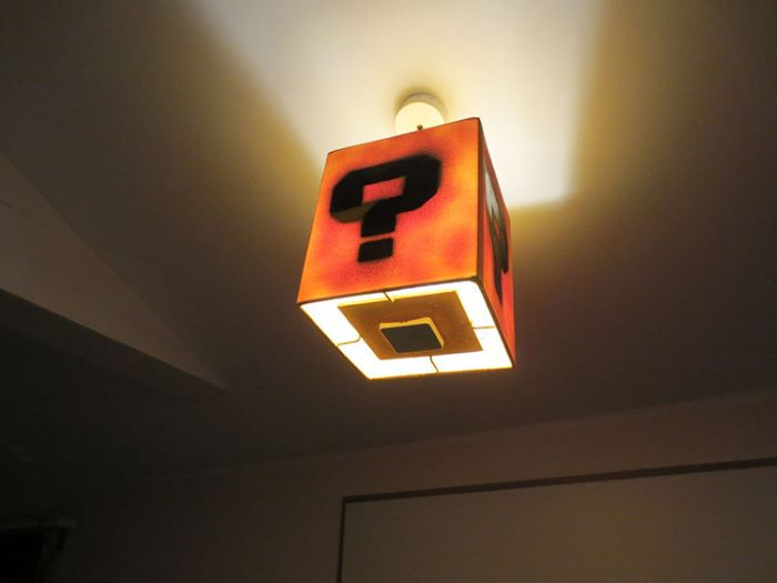 Super mario question box design lamp