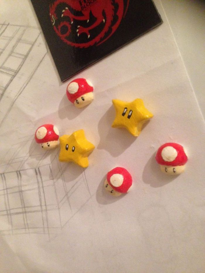 Super mario themed magnetic earrings