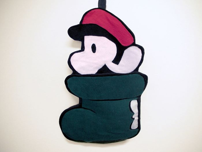 Mario design shoe stocking
