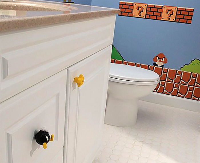 Super mario bombomb drawer handle