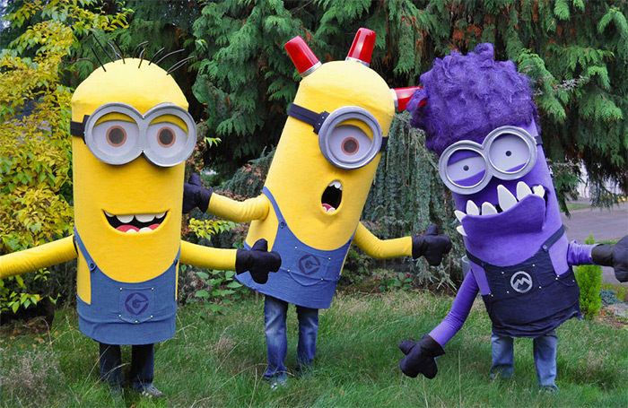 trio minion costume diy