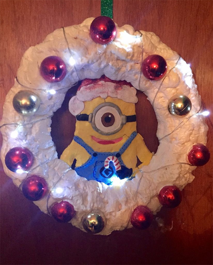 Custom minion wreath