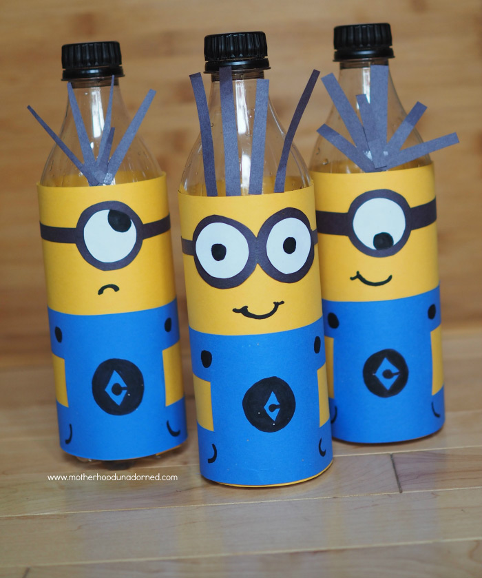 Recycled bowling game minions