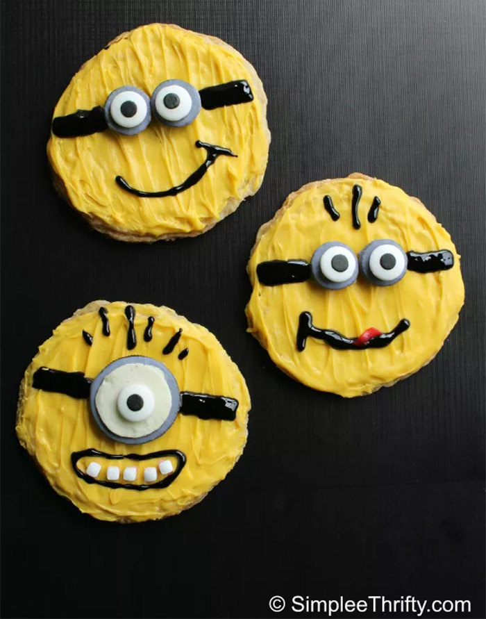 diy minion sugar cookies