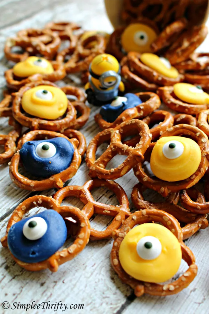 Minion Pretzels diy